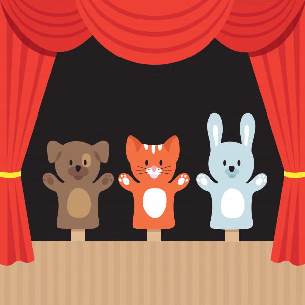 Predškolci na lutkarskoj predstavi